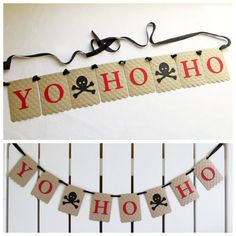 Yo Ho Ho Pirate Banner - Embossed Large Dots - Pirate Party Decor Skull and Crossbones Banner Pirate Birthday Party Garland Pirate Decor Pirate Halloween, Pirate Day, Pirate Birthday, 3rd Birthday Parties, Birthday Party Decorations, Pirate Decor, Pirate Theme, Party Garland, Pirates Of The Caribbean