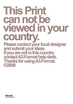 Can't be viewed by Manovski by A.Formati™, via Flickr