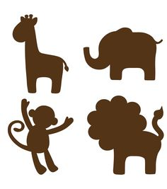 Jungle Silhouettes - Espresso Brown WallPops for Baby Decals