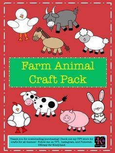 Farm Animal Craft Pack: Duck, Horse, Goat, Lamb, Chicken, Cow, Pig, Rabbit