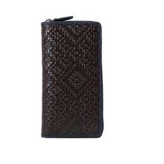 Fineplus New Cow Leather Weave Classic Business Clutch Zipper Wallet (Click The Image To Buy It)