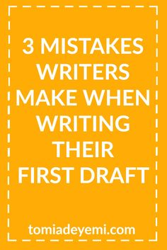 People love to hide their mistakes but as writers we need to talk about  them because if you don't know what mistakes you're making you don't know  the things you might be doing right now that are keeping you from finishing  your novel.  As you all know, writing is a huge time investment and you always want to  make the best use of your time. If you set out to write a novel you want to  publish and are making one of the mistakes below, you could add weeks,  months, or even years of…