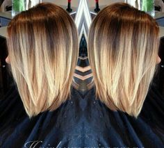 Balayage a French word has the meaning of revenge, whisking. When the hair colorist colors by balayage most horizontal brush strokes. Hair Color And Cut, Haircut And Color, Beige Hair Color, Great Hair, Hair Today, Pretty Hairstyles, Bob Hairstyles, Hairstyle Ideas, Short Haircuts