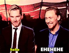 Tom Hiddleston vs. Benedict Cumberbatch gif