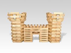 Blocks, a Tiny Racecar, a Flying Shark, and More of Most Innovative Toys Chateau Moyen Age, Construction Games, Jenga Blocks, Cool Tech Gifts, Wooden Building Blocks, Block Area, Wooden Buildings, Block Craft, Toys For Girls