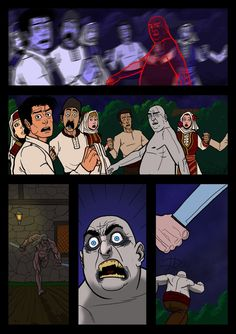 It's a Vampire!!! (page 21) by Gocce & Sejver #vampire #horror #comics #fantasy #action #blood ; published on www.komicbrew.com