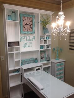 Custom Nail Salon wall unit and desk. DesCon3.com
