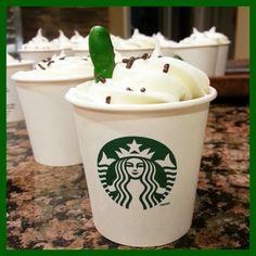 Olive You Because. Birthday Treats, Birthday Cupcakes, Hot Coffee, Coffee Cups, Chocolate Cupcakes, Starbucks, Super Easy, Fun, Anniversary Cupcakes
