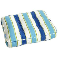 Abella Stripe Ottoman Cushion - Cool