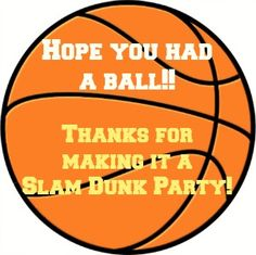 Basketball Party Favor