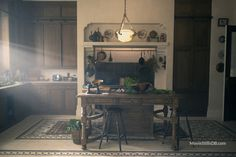 The Handmaid's Tale - Publicity still. The image measures 7500 * 5000 pixels and was added on 9 June Kitchen Nook, New Kitchen, Kitchen Ideas, Sweet Home, White Countertops, First Apartment, Green Rooms, House Goals, Bed And Breakfast