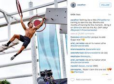 Zac Efron Ninja Warrior Training Pic