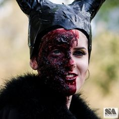 #zombie #zombies #undead #walkingdead Zombies blood guts and brains at Melbourne zombie shuffle 2014. Zombie Maleficent