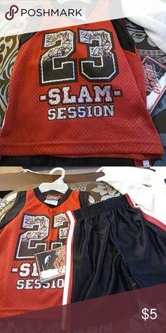 Boys short set Boys red and black short set. Super cute! mad game Matching Sets