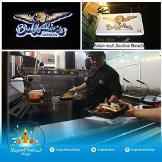 Buffalo's Cafe offers customers a neighborhood dining experience with fresh dishes and a friendly atmosphere visit them here at Magical Festival Village. #magicalfestivalvillage #igersqatar #igers #qatar #doha #katara #ezdanholding #igtravel #qatar #placestogo #trampoline #xdcinema #virtualreality #adventureisland #bungeetrampoline #giantbubble #secretroom #gokart #castle #iceskatingrink #ropecourse #tagforlikes #instafollow #followback #restaurants #shopping @buffaloscafeqatar by…