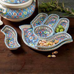 Hamsa serving platter