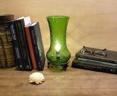 Hoosier Glass Vase Lamp  Upcycled Table Lamp Vintage by SoEco