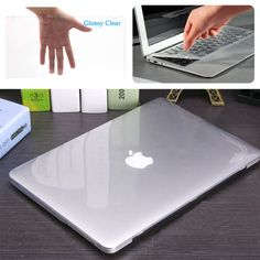 Glossy Crystal Clear Case Keyboard Cover for Macbook Pro Air Retina 11 12 13 15 - electronics. Laptop Case Macbook, Macbook Pro Cover, Macbook Skin, Newest Macbook Pro, Computer Cover, Keyboard Cover, Macbook Pro Accessories, Desktop Accessories, Best Desktop Computers