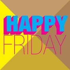 #typography #helvetica #happy #friday #color #graphic #design