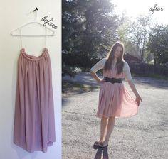 DIY Clothes DIY Refashion DIY Dress DIY Fashion Idea: add sparkles to your dress by embellishing with rhinestones