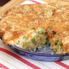 Macaroni and Cheesy Chicken Baked Casserole recipe from Betty Crocker
