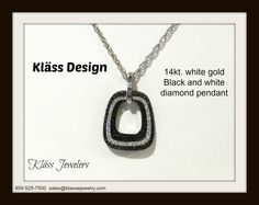 Black and white diamond pendant