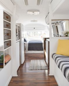 View from the back on a remodeled Airstream