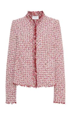 d8efbbc244 Floral-Embellished Tweed Jacket by GIAMBATTISTA VALLI Now Available on Moda  Operandi Tweed Jacket,