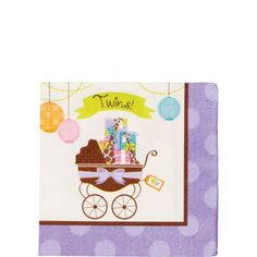 Modern Mommy Twins Beverage Napkins 16ct (cute)