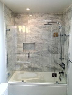 bathroom tub Stunning 39 Luxury Bathroom Shower And Tub Design Ideas. Tub Shower Doors, Bathroom Tub Shower, Bathtub Shower Combo, Shower With Tub, Shower Enclosure, Bathroom Fixtures, Bathtub Remodel, Shower Remodel, Modern Bathroom Design