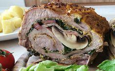 Plněná vepřová roláda s medvědím česnekem Sandwiches, Pork, Meat, Kale Stir Fry, Paninis, Pork Chops