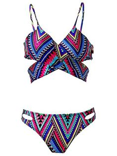 9246698321 Zando Zando Floral Printed Stylish Swimsuit Swimwear Two Piece Bikini Set Beachwear  Bathing Suits for Women