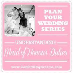 Understanding MOH Duties! Wedding Planning Series - Maid of Honour Duties | Confetti Daydreams ♥  ♥  ♥ LIKE US ON FB: www.facebook.com/confettidaydreams  ♥  ♥  ♥ #Wedding #MaidOfHonor #Bridesmaids
