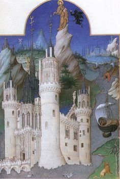 Castillo de Mehun-sur-Yebre, Libro de Horas del Duque de Berry. -Arquitectura cortesana del flamígero francés-8