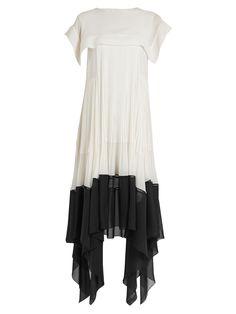 Butterfly-hem crepe dress | Chloé | MATCHESFASHION.COM