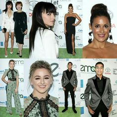 #FrancescaEastwood (with her mom #FrancesFisher), #AngeliqueCabral, #ChloeLukasiak and #MarcusScribner at the #EMAAwards last night in Burbank, Calif. • • • • • • • • • • • • • • • • • • • • • • • • • • • • • • #FrancescaEastwood (com sua mãe #FrancesFisher), #AngeliqueCabral, #ChloeLukasiak e #MarcusScribner no #EMAAwards na noite passada em Burbank, Calif.