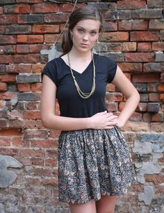 Passion Lilie fair trade and ethical indigo blue short skirt, hand block printed with eco dyes. Designed in New Orleans, Louisiana. Made in India.