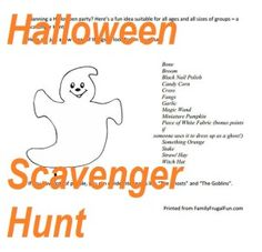 Are you thinking about some Halloween worksheets for the kids? How about a Halloween Scavenger hunt page?