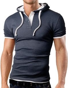 Grin&Bear Men's Hooded Polo Shirt at Amazon Men's Clothing store: Grin And Bear