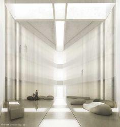 Tel Aviv University Nanoscience and Nanotechnology Chalet Design, Lobby Design, Library Design, Common Area, Ceiling Design, Interior Design Inspiration, Modern Interior, Home Decor, Tel Aviv