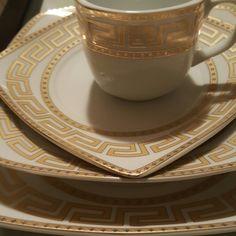 Grecian design dinnerware & Colin Cowie 24-piece Greek Key Dinnerware Set   Gold   Pinterest ...