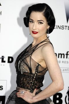 Dita Von Teeses sexy sleek short retro hairstyle