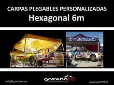 Carpas hexagonales personalizadas