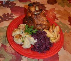 Schweinshaxe, Roasted Pork Knuckle with Crispy Skin