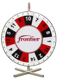 PromoQuip's 30 inch fully customized prize wheel.  Your branding would look great on this wheel.  www.promoquip.com
