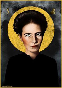 Saint Simone de Beauvoir by Elin eplet Sandström