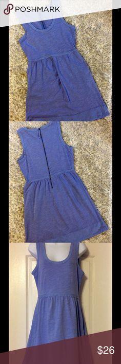 J. Crew Dress Periwinkle blue color. 100% cotton. Size 6.  Zipper works great. Good used condition. J. Crew Dresses