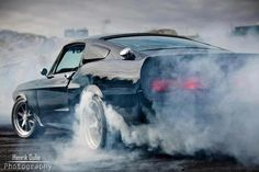 Mustang GT500 doing what it does best. #muscle #car #burnout