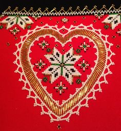 FolkCostume&Embroidery: Bringeduk or Brustklut, Bodice insets from Hardanger, Voss, and Hordaland, Norway Hardanger Embroidery, Beaded Embroidery, Spinning Circle, Scandinavian Embroidery, Bridal Crown, Lace Making, Rug Hooking, Traditional Outfits, Needlepoint