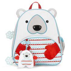 Plecak Zoo Winter z zawieszką - Miś Polarny - MamaGama: SPRAWDZONE i przydatne akcesoria dla mam i dzieci.